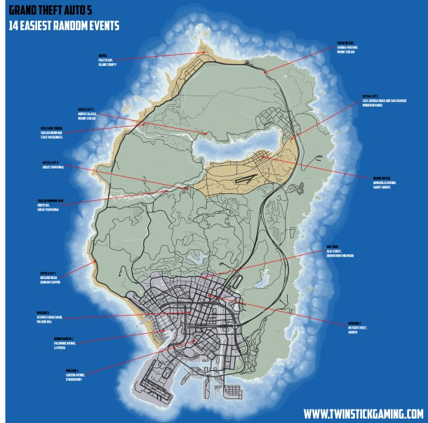 GTA5 - RANDOM EVENTS MAP