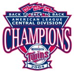 2004 Twins central division championship logo