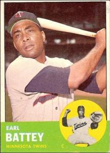 Catcher Earl Battey played for the Senators/Twins from 1960-1967
