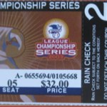 2003 Twins phantom ALCS ticket. Click on the ticket to see the full image.