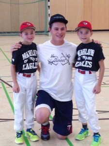 Max Kepler at Home Sweet Home baseball camp