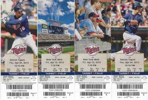 2013 Twins ticket images