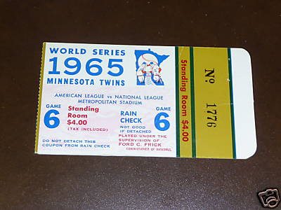 1965 Twins World Series game 6