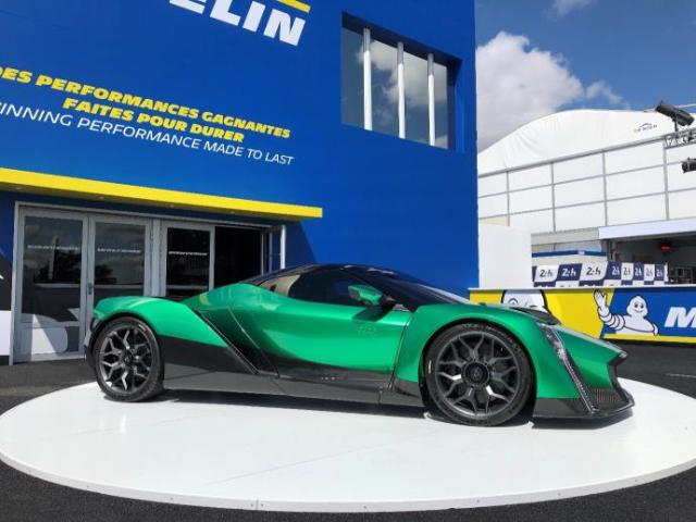 DENDROBIUM D-1 STUNS AS FIRST ELECTRIC HYPERCAR TO BE SHOWN AT THE LE MANS 24 HOURS WITH MICHELIN