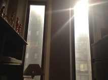 When the sun comes in just right through the office window.