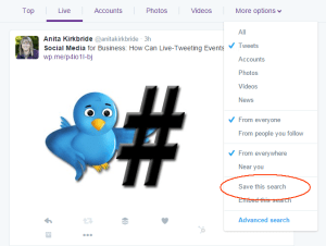 save twitter advanced search