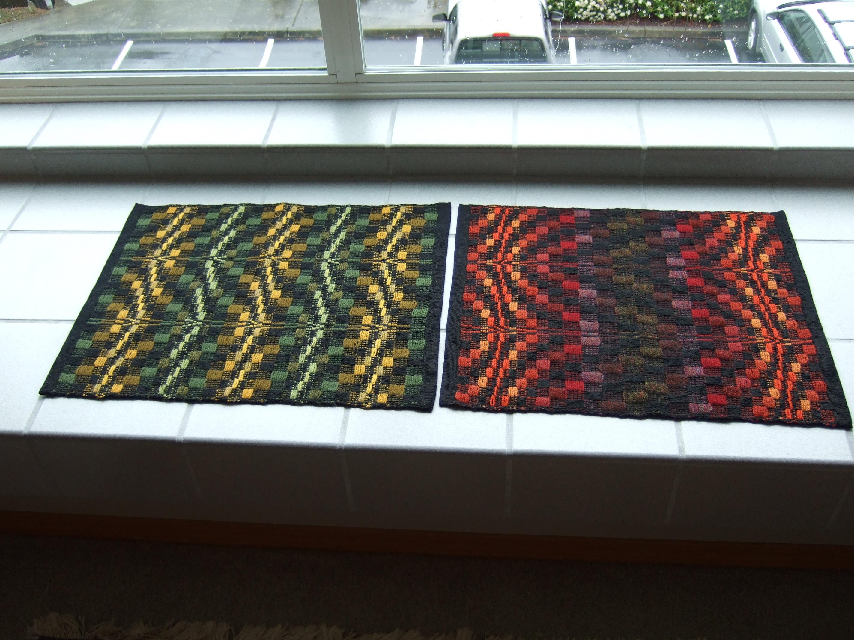First 2 overshot mats using John Madison threading