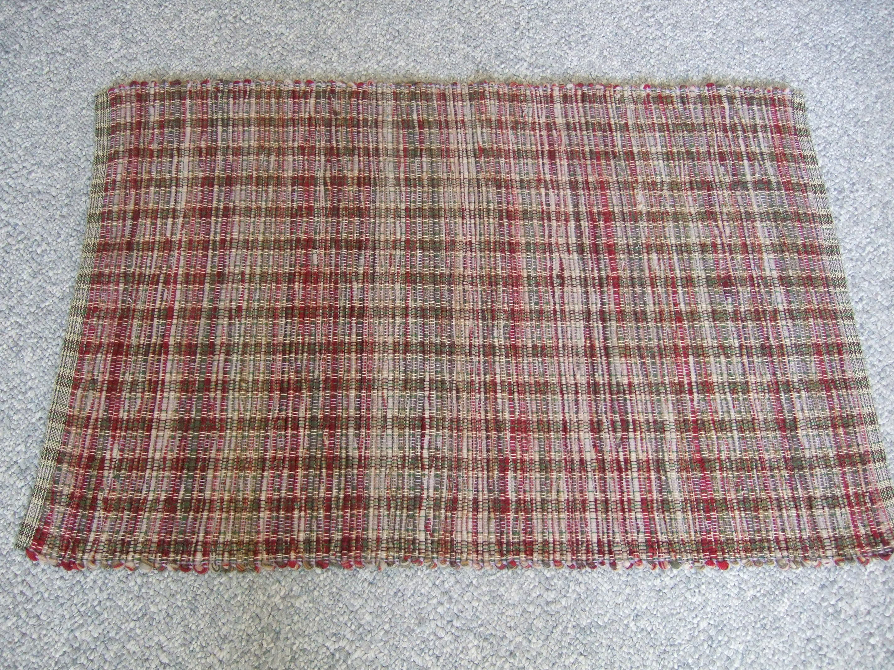 wool blanket cut into strips