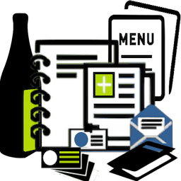 corporate stationery marketing material icon