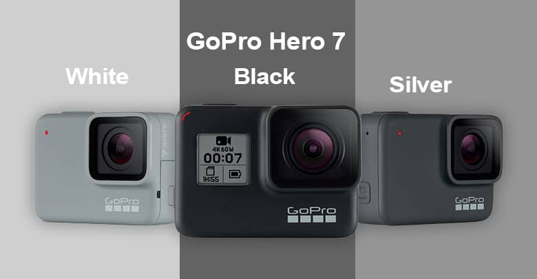Her Go Pro 7 Black Silver And White Sports Action Camera