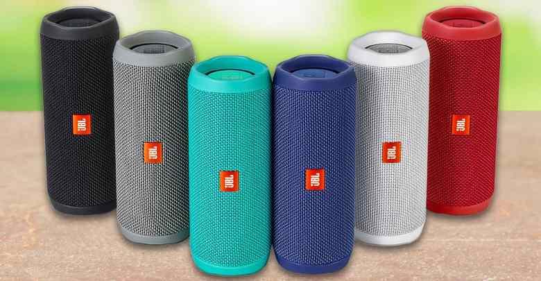 J B L Flip 4 Portable Wireless Speaker With Powerful Bass & Mic