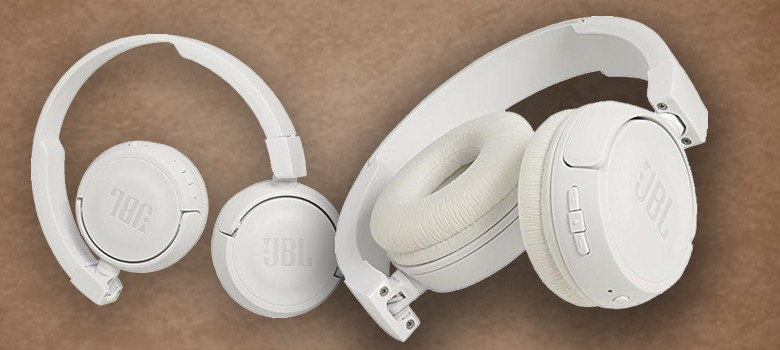 J B L T450 B T Extra Bass Wireless On Ear Headphones With Mic ( White)