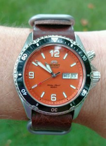 Orient Mako on Leather Strap