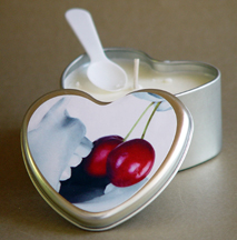 Edible candles cherry
