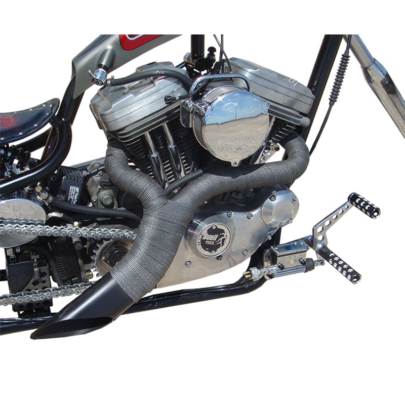 sportster evolution ground pounder exhaust header twisted choppers