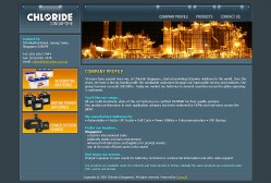 Web design and set up for Chloride Batteries S E Asia Pte. Ltd.