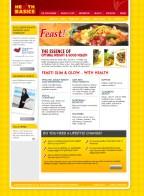 Web design mockup for Health Basics Singapore (version 2)