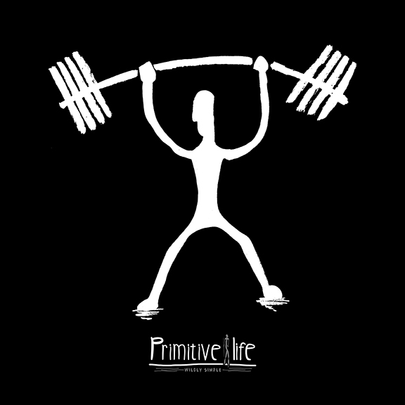dcd0718b5 Adult Primitive Life Weight Lifting T-Shirt - Twisted Ink