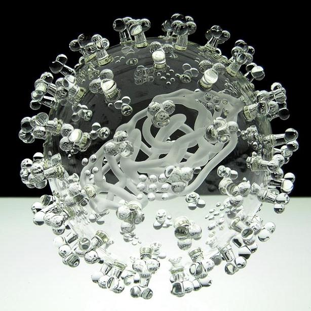 the swine flu virus close up glass sculpture The Most Deadliest Art in the World