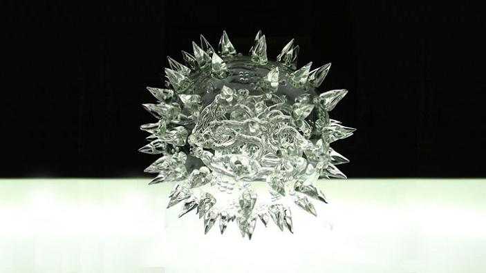 virus made out of glass luke jerram glass microbiology The Most Deadliest Art in the World