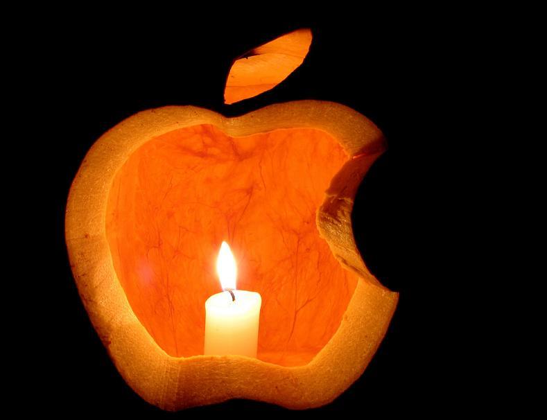 apple-logo-pumpkin