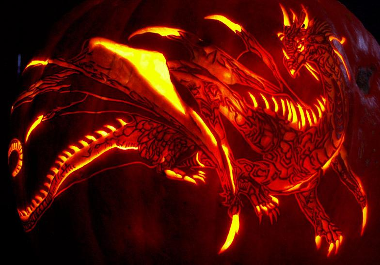 black-dragon-pumpkin