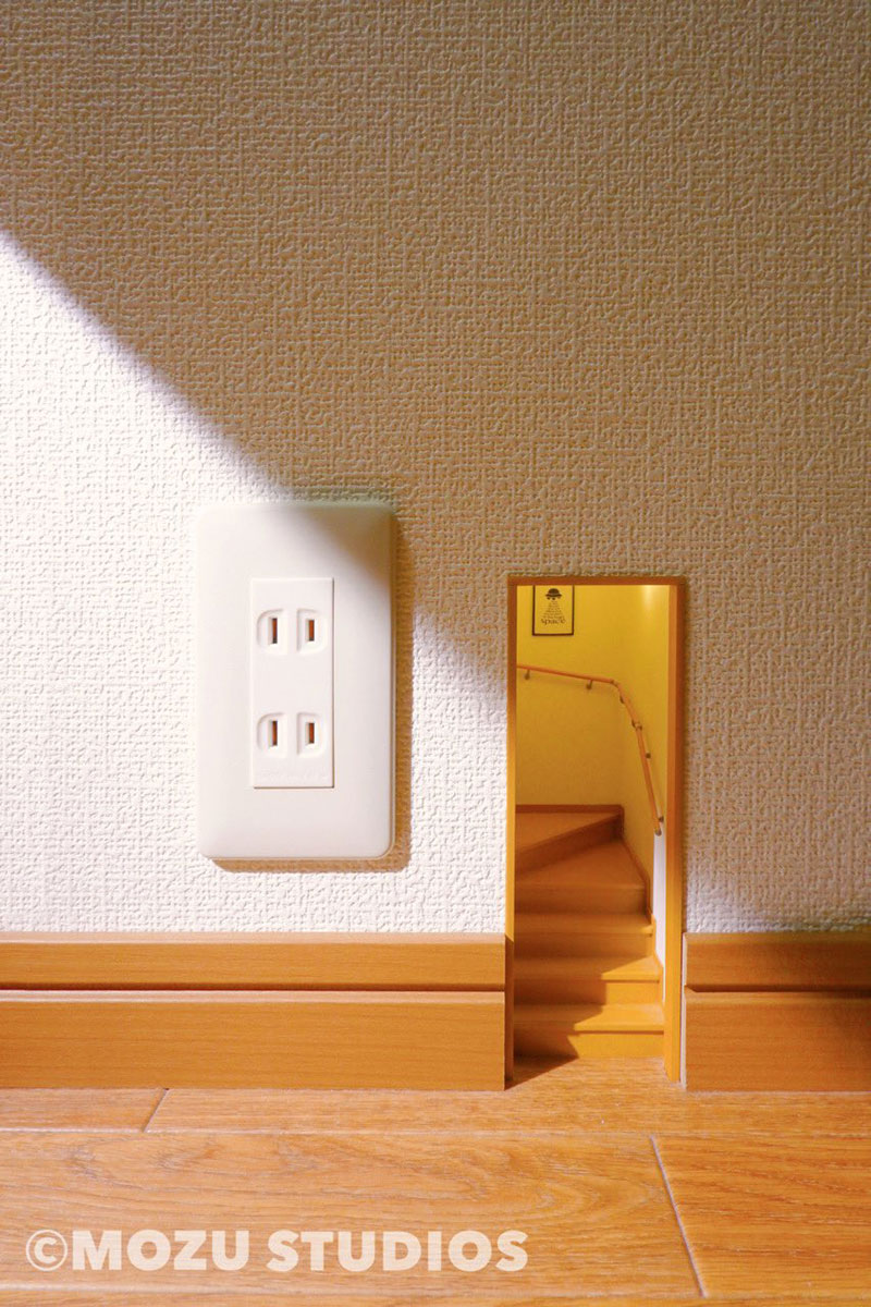 mini room inside wall outlet by mozu kiyotaka mizukoshi 3 Leaving this Behind for Future Tenants to Discover
