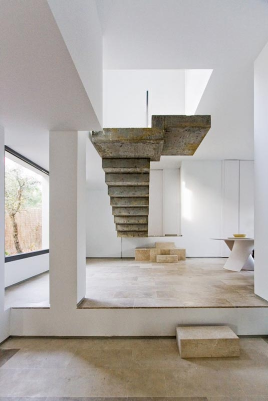 A Giant Gallery Of Unique Staircase Designs «Twistedsifter   Floating Concrete Steps Designs   House   Sidewalk   Front Door   Stair Railing   Backyard