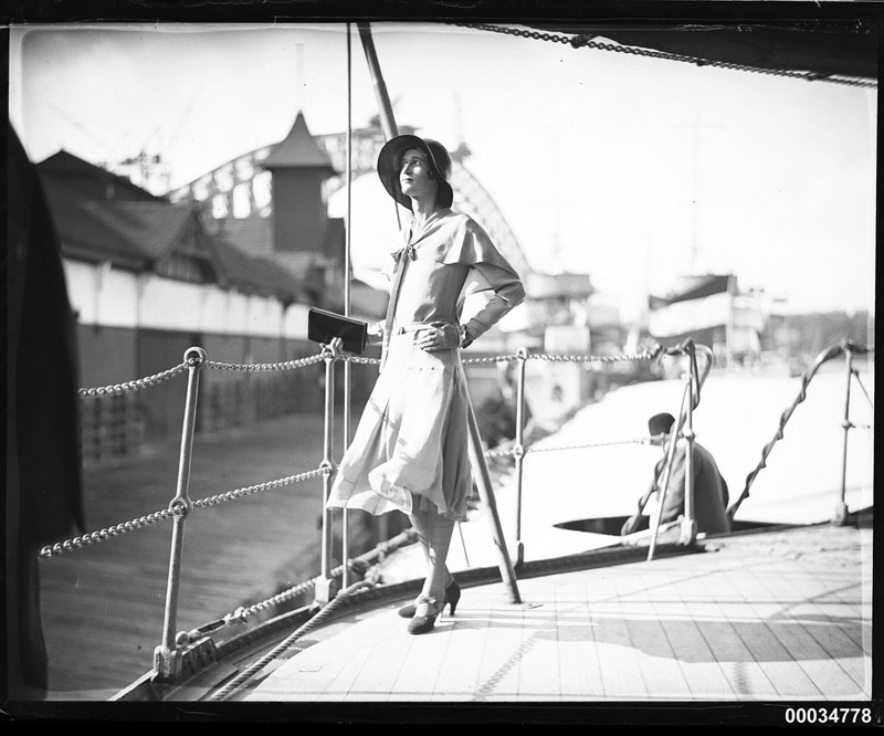 Miss-Hera-Roberts-posing-on-the-deck-of-HNLMS-JAVA