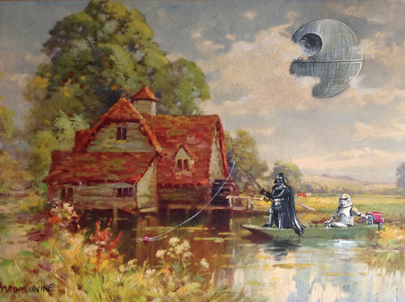 This Guy Paints Random Characters Into Old Thrift Store