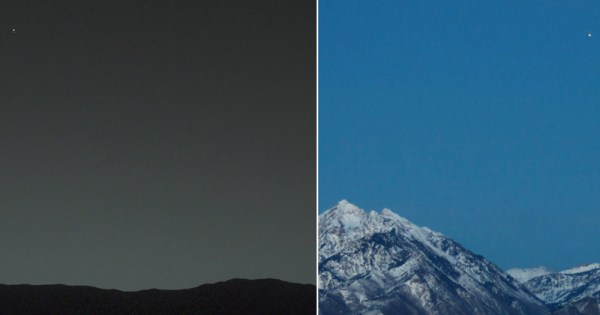 Picture of the Day: Earth from Mars and Mars from Earth ...