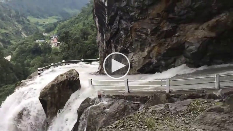 How Is Nobody Fazed Driving Down This Crazy Waterfall Road
