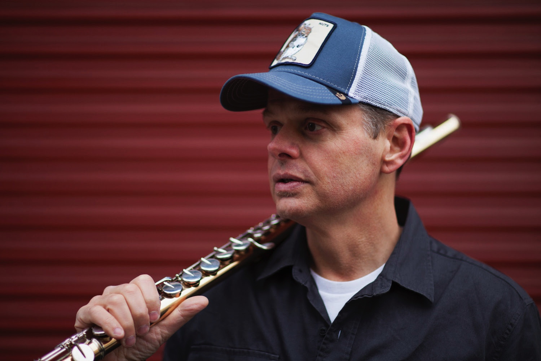 UK flautist and sax player Chip Wickham.