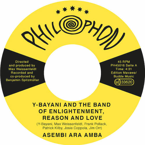 """Y-Bayani And His Band of Enlightenment, Reason And Love share two-track 7"""""""