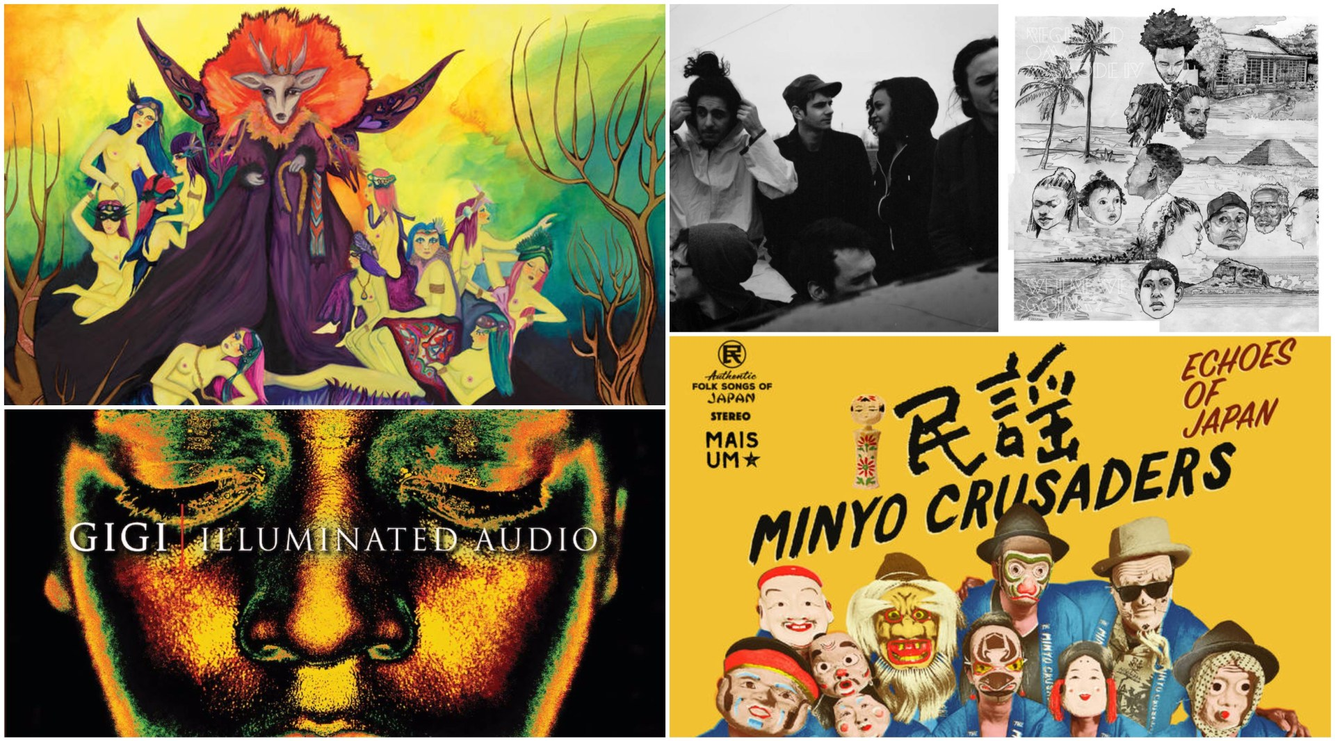 "New albums from Schemes, Reginald Omas Mamode IV, Gigi ""Illuminated Audio, Greg Foat, and Minyo Crusaders."