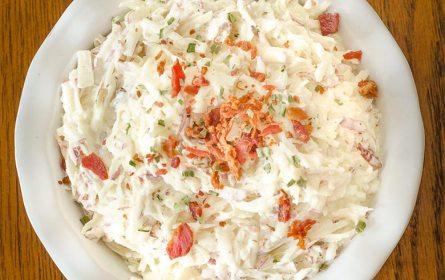 Shredded Potato Salad | Twisted Tastes