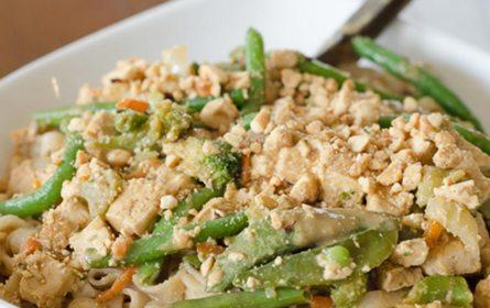 Thai Noodles with Peanut Sauce | Twisted Tastes