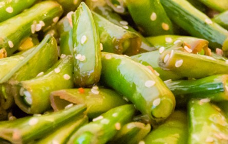 Sesame Sugar Snap Peas | Twisted Tastes
