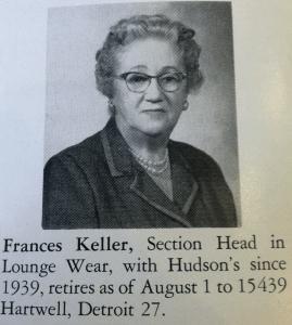 Frances Keller 1960
