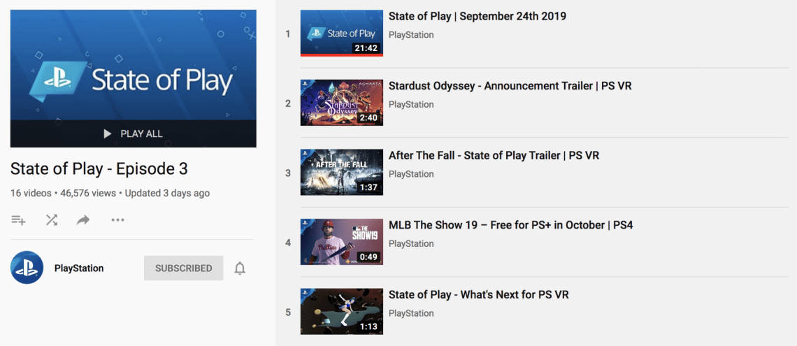 state of play december 2019