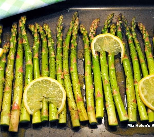 Grilled Lemon Asparagus (GF, V, Vg)