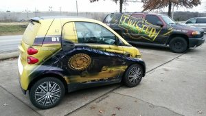 Nashville vehicle wrap facility.