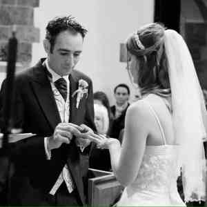 The placing of the wedding ring!