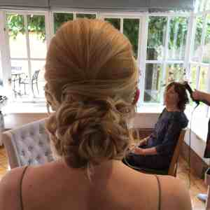 Perfect blond twisted chignon