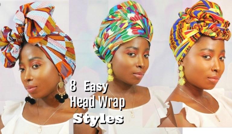 8 Easy Head Wrap Turban Styles | Using Kente Fabric