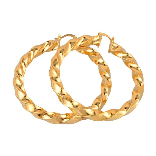 Twisted Copper Hoop Earrings