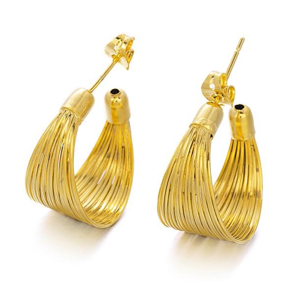 Tribal copper hoop earrings