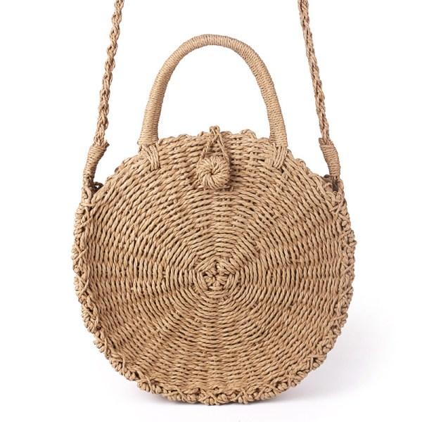 handmade round rattan bags
