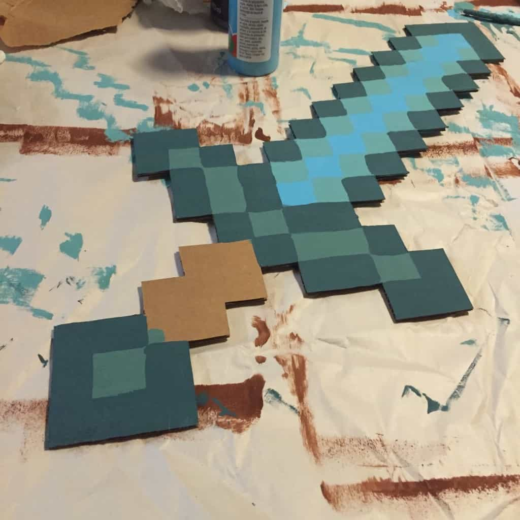 Sword Gold Minecraft Sword