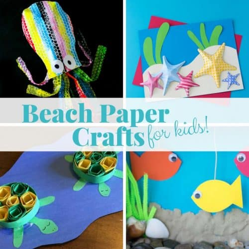 Thanks to all the creative people who've made it a relatively simple affair to make a craft at home and you needn't spend excessi. 17 Easy Beach Paper Crafts For Your Kids To Make This Summer Twitchetts